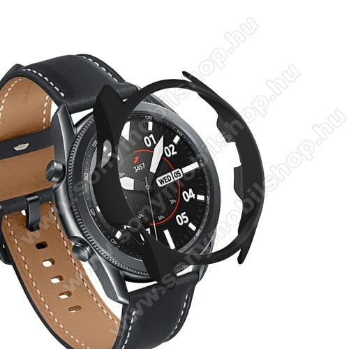 Okosóra műanyag védő tok / keret - FEKETE - SAMSUNG Galaxy Watch3 45mm (SM-R845F)