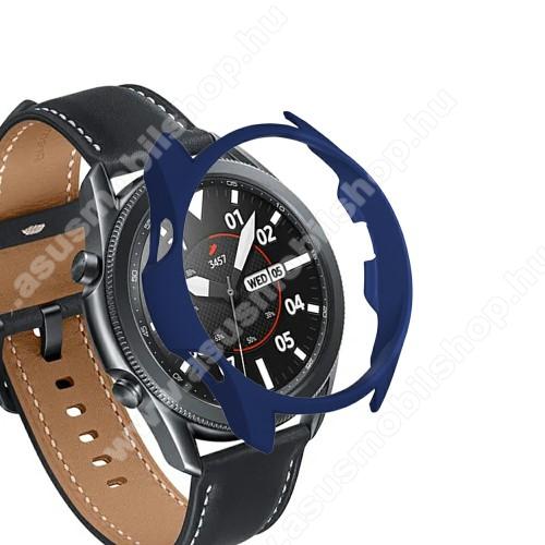 Okosóra műanyag védő tok / keret - KÉK - SAMSUNG Galaxy Watch3 45mm (SM-R845F)