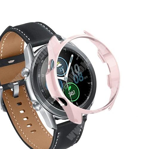 Okosóra műanyag védő tok / keret - ROSE GOLD - SAMSUNG Galaxy Watch3 45mm (SM-R845F)