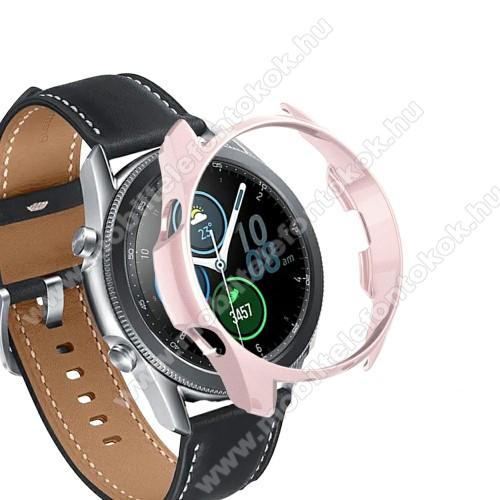 Okosóra műanyag védő tok / keret - ROSE GOLD - SAMSUNG Galaxy Watch3 41mm (SM-R855F)