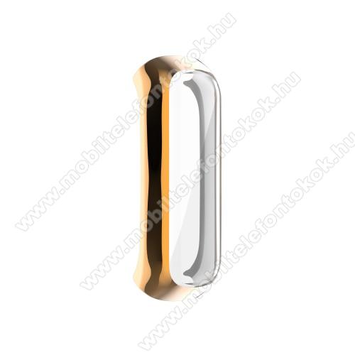 Okosóra műanyag védő tok / keret - ROSE GOLD - Szilikon előlapvédő is  - SAMSUNG Galaxy Fit 2 (SM-R220)