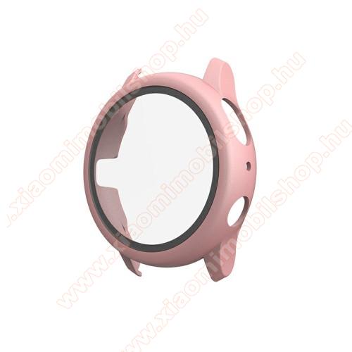 Okosóra műanyag védő tok / keret - RÓZSASZÍN - 9H edzett üveg előlap védő is! - SAMSUNG Galaxy Watch Active2 40mm