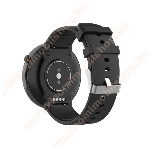 Xiaomi Amazfit Verge 2Okosóra pót szíj - szilikon, 15mm széles - Xiaomi Amazfit Smartwatch 2 / Amazfit Verge 2 / Amazfit Nexo - FEKETE