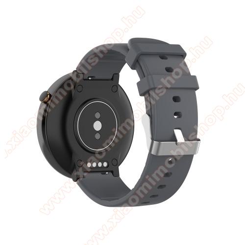 Xiaomi Amazfit Smartwatch 2Okosóra pót szíj - szilikon, 15mm széles - Xiaomi Amazfit Smartwatch 2 / Xiaomi Amazfit Verge 2 - SZÜRKE