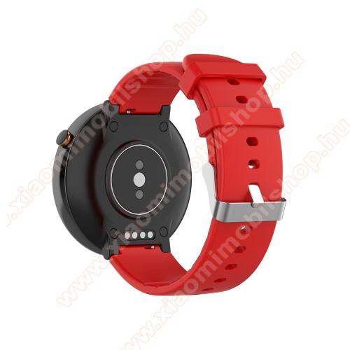 Xiaomi Amazfit Smartwatch 2Okosóra pót szíj - szilikon, 15mm széles - Xiaomi Amazfit Smartwatch 2 / Xiaomi Amazfit Verge 2 - PIROS