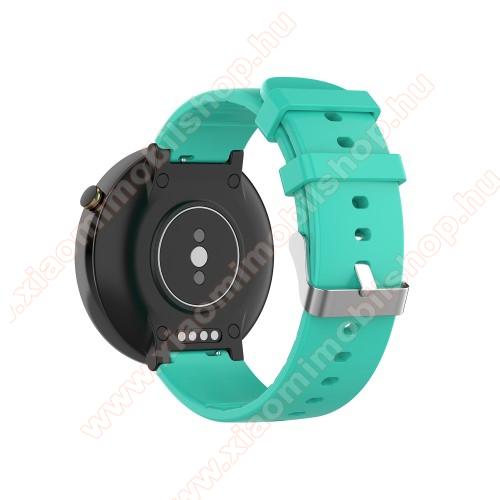 Xiaomi Amazfit Smartwatch 2Okosóra pót szíj - szilikon, 15mm széles - Xiaomi Amazfit Smartwatch 2 / Xiaomi Amazfit Verge 2 - CIÁN KÉK