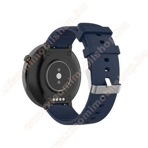 Xiaomi Amazfit Smartwatch 2Okosóra pót szíj - szilikon, 15mm széles - Xiaomi Amazfit Smartwatch 2 / Xiaomi Amazfit Verge 2 - SÖTÉTKÉK