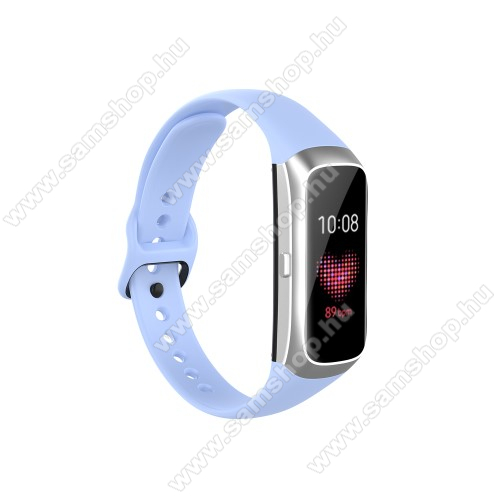 SAMSUNG Galaxy Fit (SM-R370)Okosóra pót szíj - szilikon - 17,3mm széles, 89mm+115mm hosszú - SAMSUNG SM-R370 Galaxy Fit - VILÁGOSKÉK