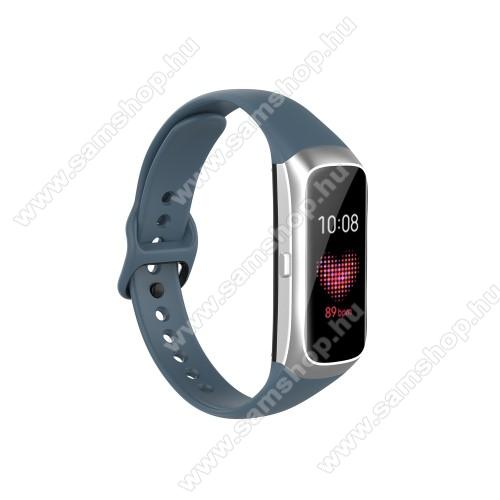 SAMSUNG Galaxy Fit (SM-R370)Okosóra pót szíj - szilikon - 17,3mm széles, 89mm+115mm hosszú - SAMSUNG SM-R370 Galaxy Fit - KÉK