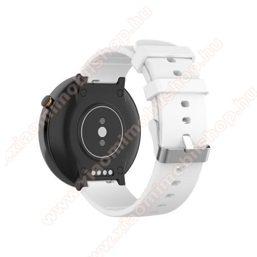 Okosóra pót szíj - szilikon - Xiaomi Amazfit Smartwatch 2 / Xiaomi Amazfit Verge 2 - FEHÉR
