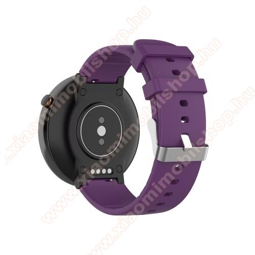 Okosóra pót szíj - szilikon - Xiaomi Amazfit Smartwatch 2 / Xiaomi Amazfit Verge 2 - LILA