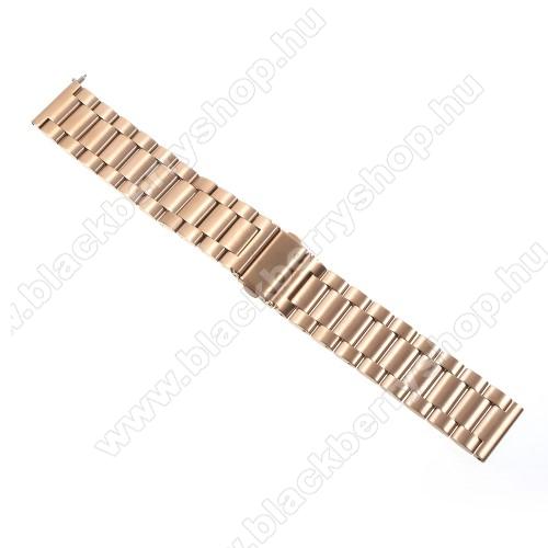 Okosóra szíj - ARANY - rozsdamentes acél, 24cm - SAMSUNG Gear S3 Classic / SAMSUNG Gear S3 Frontier