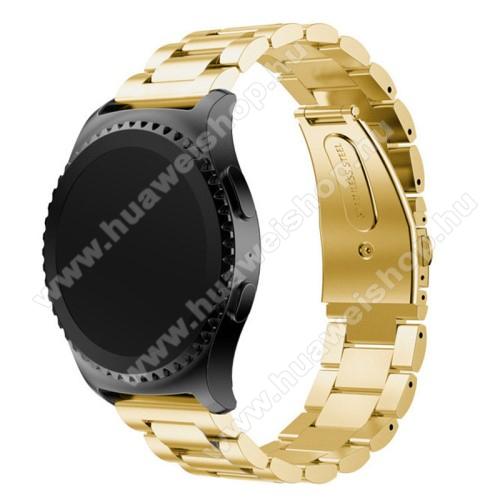 HUAWEI Watch 2Okosóra szíj - ARANY - rozsdamentes acél, csatos - HUAWEI Watch 2