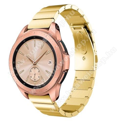 HUAWEI Watch GT 2 42mmOkosóra szíj - ARANY - rozsdamentes acél, csatos, 185mm hosszú, 20mm széles, max 215mm-es csuklóra - SAMSUNG Galaxy Watch 42mm / HUAWEI Watch GT 2 42mm