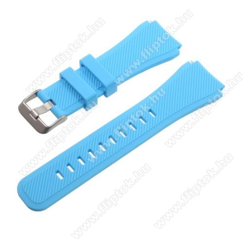 ZTE Watch GTOkosóra szíj - BABAKÉK - szilikon - 90 + 103mm hosszú, 22mm széles - SAMSUNG Galaxy Watch 46mm / SAMSUNG Gear S3 Classic / SAMSUNG Gear S3 Frontier