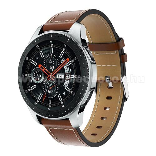 Okos�ra sz�j - BARNA - val�di b?r, 109mm + 83mm hossz�, 22mm sz�les, max 200mm-es csukl�ra - SAMSUNG Galaxy Watch 46mm / SAMSUNG Gear S3 Classic / SAMSUNG Gear S3 Frontier