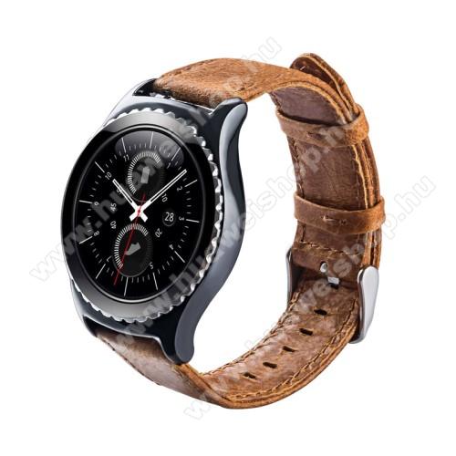 HUAWEI Watch 2Okosóra szíj - BARNA - valódi bőr - 102mm + 82mm hosszú, 17mm széles - HUAWEI Watch 2