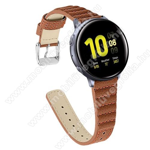 HUAWEI Honor MagicWatch 2 46mmOkosóra szíj - BARNA - valódi bőr, 115+75mm hosszú, 22mm széles - SAMSUNG SM-R800NZ Galaxy Watch 46mm