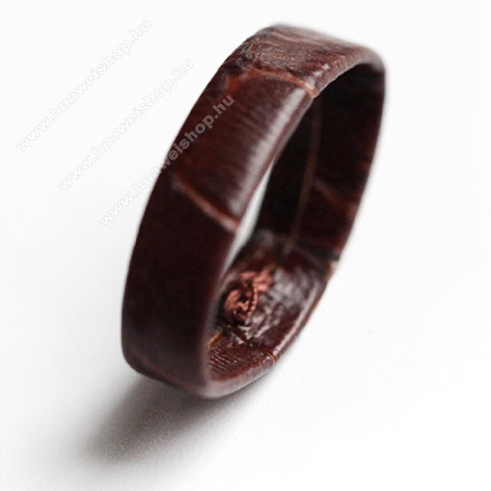 HUAWEI Watch MagicOkosóra szíj bújtató - 1db, PU bőr, 22mm széles szíjakhoz - BARNA