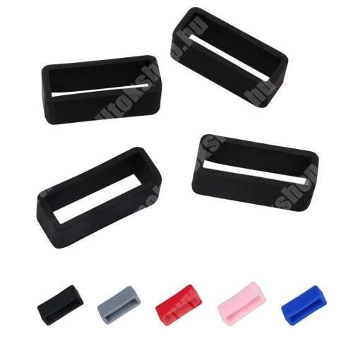 Okosóra szíj bújtató - 1db, szilikon, 14mm széles, nem mérgező, mosható - Fekete