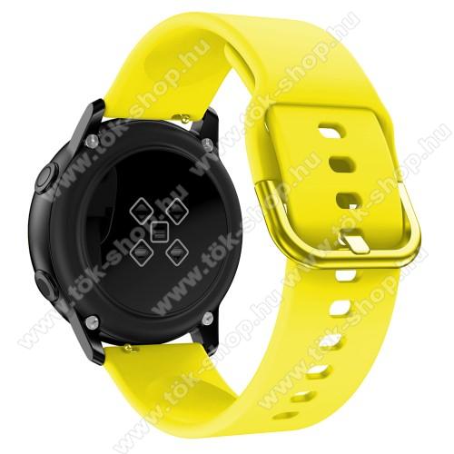 HUAWEI MagicWatch 2 42mmOkosóra szíj - CITROMSÁRGA - szilikon - 83mm + 116mm hosszú, 20mm széles, 130mm-től 205mm-es méretű csuklóig ajánlott - SAMSUNG Galaxy Watch 42mm / Xiaomi Amazfit GTS / HUAWEI Watch GT / SAMSUNG Gear S2 / HUAWEI Watch GT 2 42mm / Galaxy Watch Active / Act