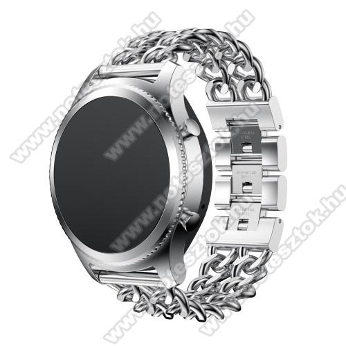 Xiaomi Mi Watch (FOR GLOBAL MARKET)Okosóra szíj - EZÜST - rozsdamentes acél - 22mm széles - SAMSUNG Galaxy Watch 46mm / SAMSUNG Gear S3 Classic / SAMSUNG Gear S3 Frontier