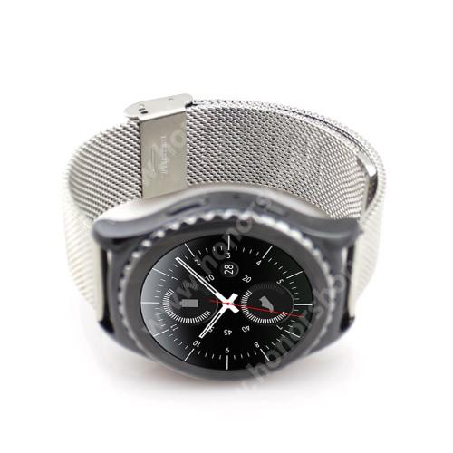 HUAWEI Honor MagicWatch 2 42mm Okosóra szíj - EZÜST - rozsdamentes acél, csatos - 20mm széles - SAMSUNG Galaxy Watch 42mm / Xiaomi Amazfit GTS / SAMSUNG Gear S2 / HUAWEI Watch GT 2 42mm / Galaxy Watch Active / Active 2