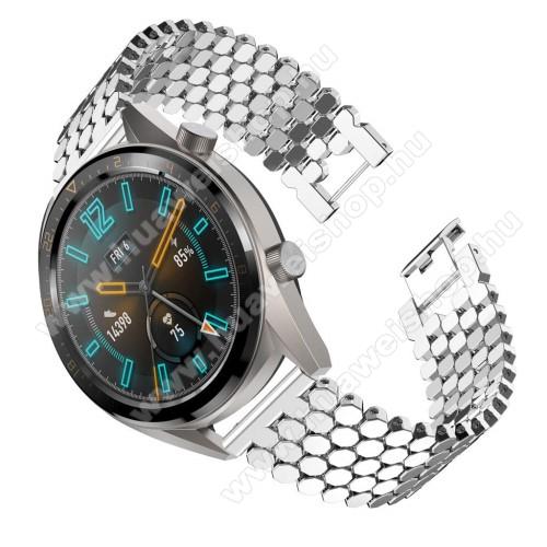 HUAWEI Watch GTOkosóra szíj - EZÜST - rozsdamentes acél, csatos - HUAWEI Watch GT / HUAWEI Honor Watch Magic / HUAWEI Watch 2 Pro