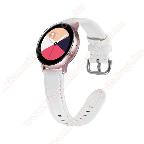 Okosóra szíj - FEHÉR - PU bőr, 22mm széles - SAMSUNG Galaxy Watch 46mm / SAMSUNG Watch GT 2e / Watch GT 2 46mm / SAMSUNG Gear S3 Frontier