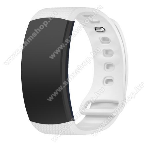 SAMSUNG Gear Fit 2 Pro (SM-R365)Okosóra szíj - FEHÉR - szilikon, L-es méret, 90mm+123mm hosszú, 150mm-től 213mm-es méretű csuklóig ajánlott - SAMSUNG Gear Fit 2 SM-R360 / Samsung Gear Fit 2 Pro SM-R365