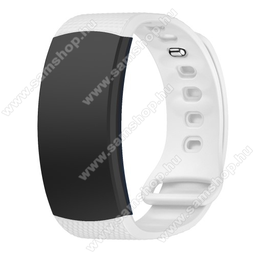 SAMSUNG Gear Fit 2 Pro (SM-R365)Okosóra szíj - FEHÉR - szilikon, S-es méret, 95mm+90mm hosszú, 126mm-től 175mm-es méretű csuklóig ajánlott - SAMSUNG Gear Fit 2 SM-R360 / Samsung Gear Fit 2 Pro SM-R365