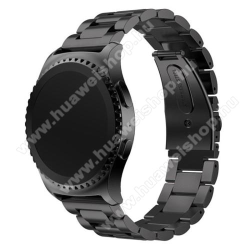 HUAWEI Watch 2Okosóra szíj - FEKETE - rozsdamentes acél, csatos - HUAWEI Watch 2