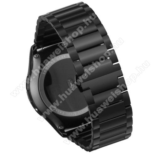 HUAWEI Watch 2Okosóra szíj - FEKETE - rozsdamentes acél, speciális pillangó csat - HUAWEI Watch 2