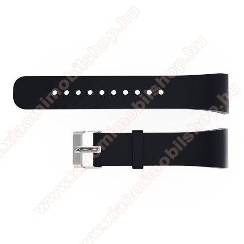 Okosóra szíj - FEKETE - Samsung Galaxy Gear Fit 2 Pro / SAMSUNG Gear Fit 2 SM-R360 - 128.29mm + 72.07mm hosszú