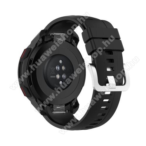 Okosóra szíj - FEKETE - szilikon, 1257mm + 94mm hosszú - HUAWEI Honor Watch GS Pro
