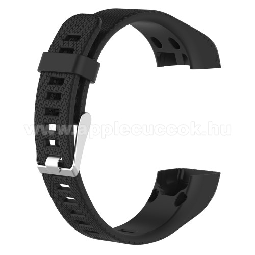 Okos�ra sz�j - FEKETE - szilikon, 12.5cm + 9.5cm - Garmin Vivosmart HR+