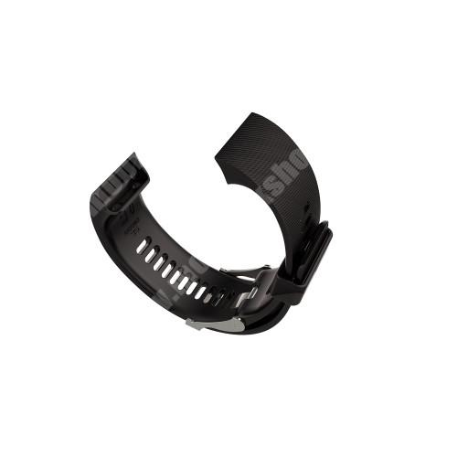 Okosóra szíj - FEKETE - szilikon, 13.3 + 8.2cm - Garmin Forerunner 35 - Csavarhúzóval