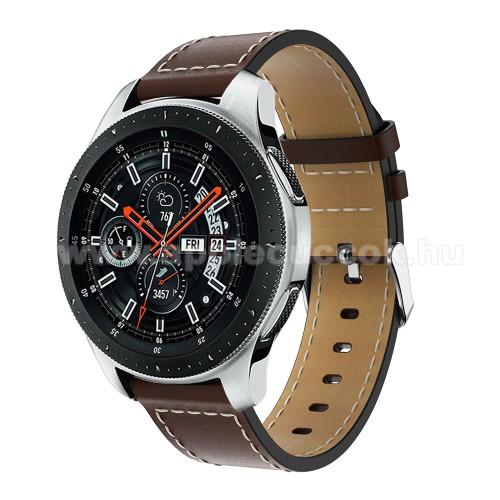 Okos�ra sz�j - K�V�BARNA - val�di b?r, 109mm + 83mm hossz�, 22mm sz�les, max 200mm-es csukl�ra - SAMSUNG Galaxy Watch 46mm / SAMSUNG Gear S3 Classic / SAMSUNG Gear S3 Frontier