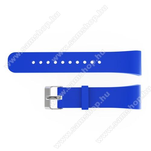 SAMSUNG SM-R360 Gear Fit 2Okosóra szíj - KÉK - szilikon, 20cm hosszú és 2cm széles - SAMSUNG Gear Fit 2 SM-R360 / Samsung Gear Fit 2 Pro SM-R365 - 128.29mm + 72.07mm hosszú