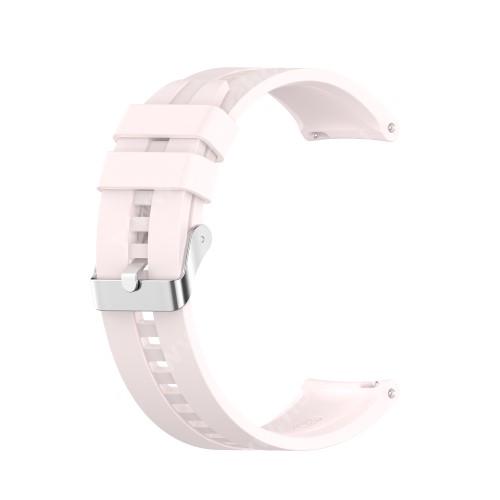 Okosóra szíj - környezetbarát szilikon - VILÁGOS RÓZSASZÍN - 120mm+90mm hosszú, 22mm széles - SAMSUNG Galaxy Watch 46mm / Watch GT2 46mm / Watch GT 2e / Galaxy Watch3 45mm / Honor MagicWatch 2 46mm