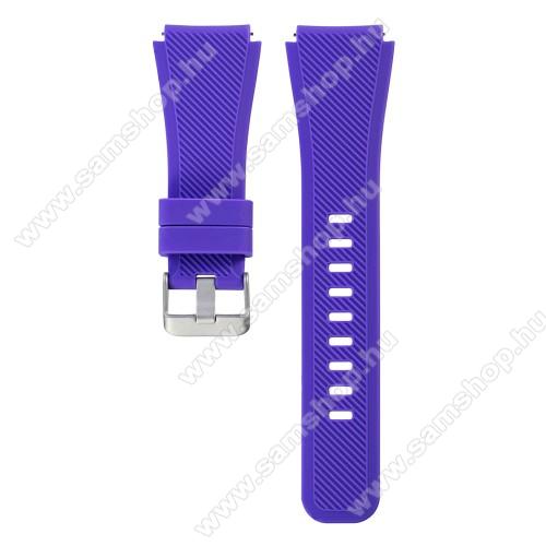 SAMSUNG Galaxy Watch 46mm (SM-R800NZ)Okosóra szíj - LILA - szilikon, 19cm hosszú, 22mm széles - SAMSUNG Galaxy Watch 46mm / SAMSUNG Gear S3 Classic / SAMSUNG Gear S3 Frontier