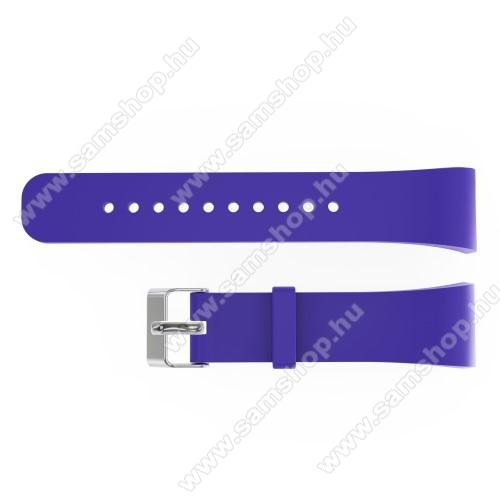 SAMSUNG Gear Fit 2 Pro (SM-R365)Okosóra szíj - LILA - szilikon, 20cm hosszú és 2cm széles - SAMSUNG Gear Fit 2 SM-R360 / Samsung Gear Fit 2 Pro SM-R365 - 128.29mm + 72.07mm hosszú