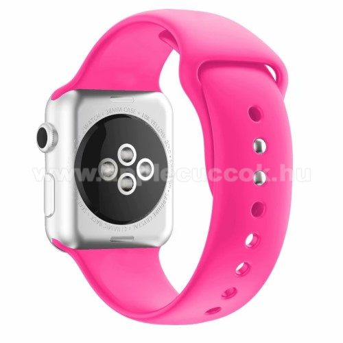 APPLE Watch Series 4 44mm Okosóra szíj - MAGENTA - szilikon - APPLE Watch Series 3/2/1 42mm / APPLE Watch Series 4 44mm