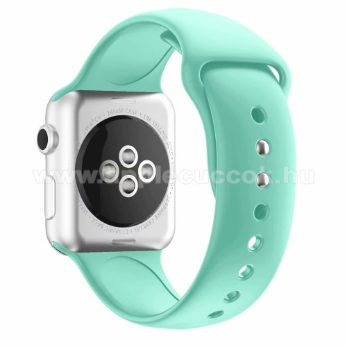 APPLE Watch Series 4 44mm Okosóra szíj - MENTA ZÖLD - szilikon - APPLE Watch Series 3/2/1 42mm / APPLE Watch Series 4 44mm