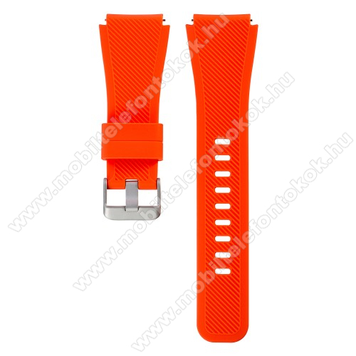 Okosóra szíj - NARANCS - szilikon, 19cm hosszú - SAMSUNG Galaxy Watch 46mm / SAMSUNG Gear S3 Classic / SAMSUNG Gear S3 Frontier