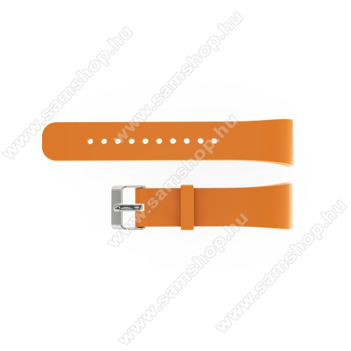 SAMSUNG SM-R360 Gear Fit 2Okosóra szíj - NARANCS - szilikon, 20cm hosszú és 2cm széles - SAMSUNG Gear Fit 2 SM-R360 / Samsung Gear Fit 2 Pro SM-R365 - 128.29mm + 72.07mm hosszú