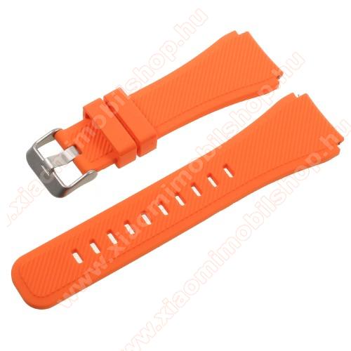 Xiaomi AmazfitOkosóra szíj - NARANCS  - szilikon - 90 + 103mm hosszú, 22mm széles - SAMSUNG Galaxy Watch 46mm / SAMSUNG Gear S3 Classic / SAMSUNG Gear S3 Frontier