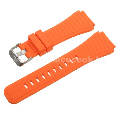 Okosóra szíj - NARANCS  - szilikon - 90 + 103mm hosszú, 22mm széles - SAMSUNG Galaxy Watch 46mm / SAMSUNG Gear S3 Classic / SAMSUNG Gear S3 Frontier