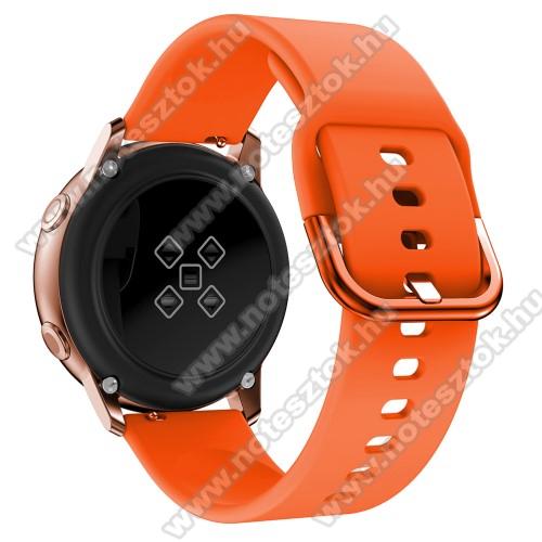 WOTCHI SmartWatch W22SOkosóra szíj - NARANCSSÁRGA - szilikon - 83mm + 116mm hosszú, 20mm széles, 130mm-től 205mm-es méretű csuklóig ajánlott - SAMSUNG Galaxy Watch 42mm / Xiaomi Amazfit GTS / SAMSUNG Gear S2 / HUAWEI Watch GT 2 42mm / Galaxy Watch Active / Active 2