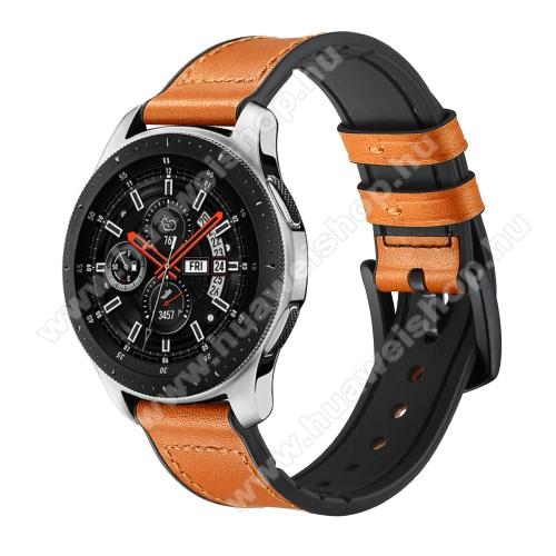 HUAWEI Watch MagicOkosóra szíj - NARANCSSÁRGA - valódi bőr - 80mm + 120mm hosszú, 22mm széles - HUAWEI Watch GT / HUAWEI Watch Magic / Watch GT 2 46mm
